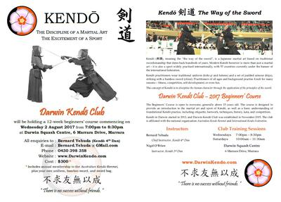 Kendo Beginners' Course