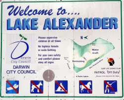 Lake Alexander Coucil sign