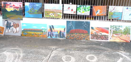 Paintings for sale at the Malak Markets