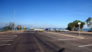Car park at Mandorah Jetty
