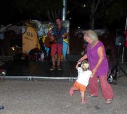dancing at the markets