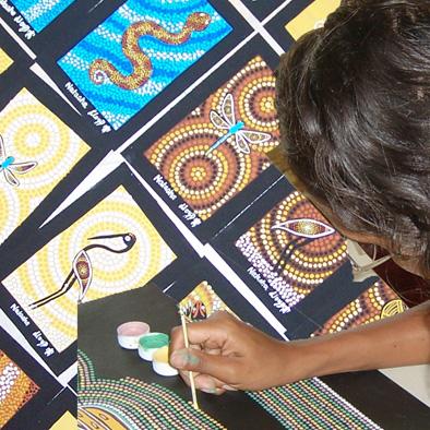 Painting at Mindil Beach Markets