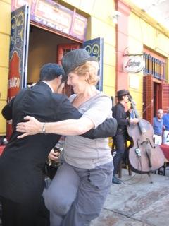 Carol in La Boca Buenos Aires