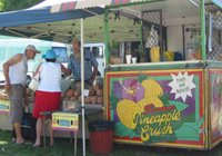 Pineapple crush at a Qld market.