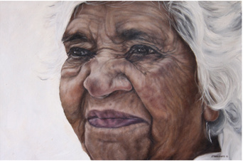 2010 Art Award  Portrait of Mona by Al Strangeways