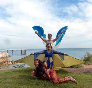 Seabreeze clifftop dancers