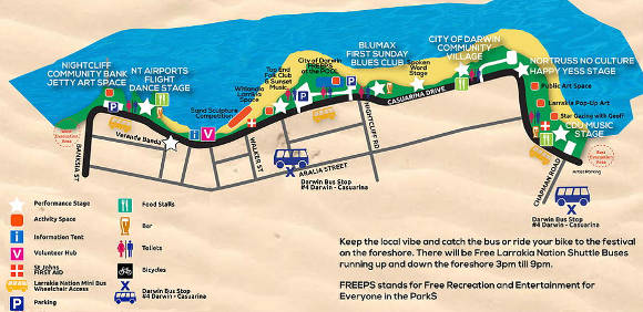 Seabreeze Festival map