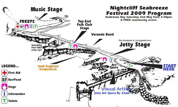 Seabreeze Festival 2009 map of events