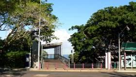 Entrance to the wharf skywalk