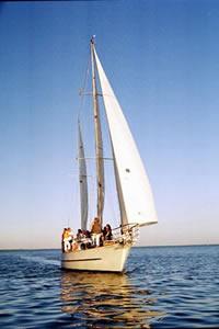 Starchaser under sail