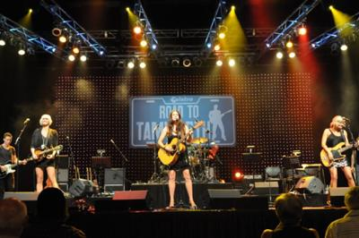 The McClymonts performing at Telstra Road to Tamworth 2009/2010 Grand Final