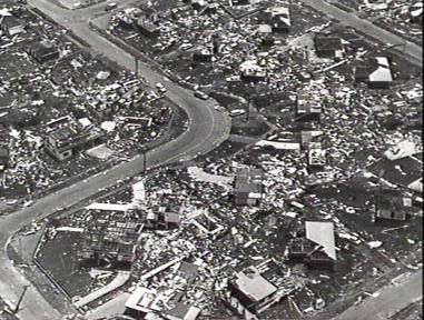 Damage caused by Cyclone Tracy