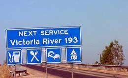 Road sign Victoria River
