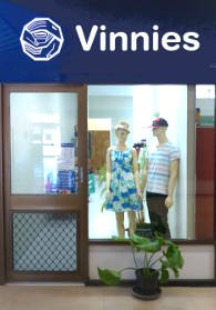 Vinnies shop at Malak
