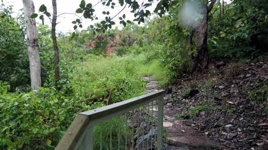 Path to top of Wangi falls