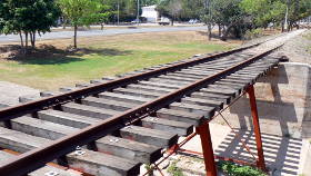 A small restored rail bridge