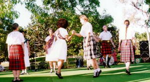 Scottish dancing at Jingili gardens.