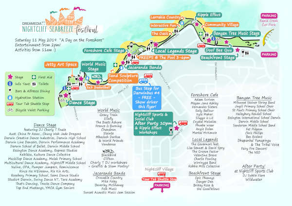 2019 Seabreeze Festival Map