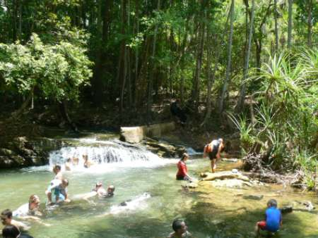 Berry Springs Waterfall