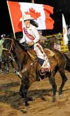 Canadian International Rodeo Queen and other Aussie Rodeo champions signing autographs