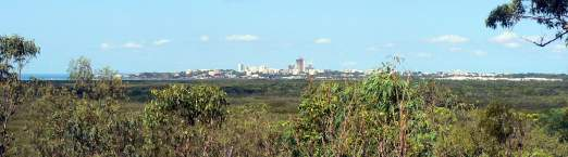Darwin City viewed from the Charles Darwin National Park