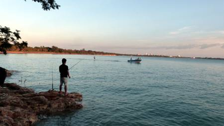 fishing at Fannie Bay