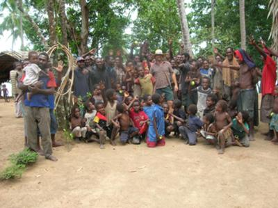 Craig Hand with the remote Sibidiri tribe in Papua New Guinea.