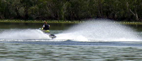 jet ski on Manton Dam