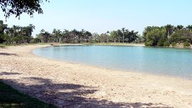 lake Alexander beach and swimming area