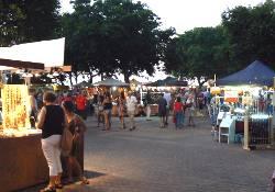 Mindil Beach market stalls.