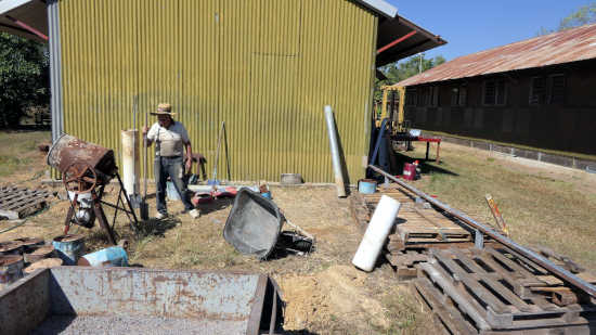 Volunteer working on extension