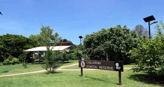 Casuarina Coastal Reserve entrance facilities.