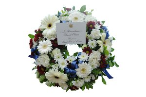 Memorial wreath laid by President Obama