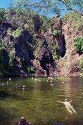 A cool swim at Wangi Falls